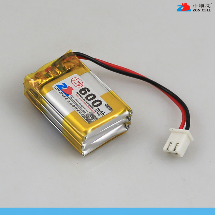 In the 600mAh 402030*3 3.7V polymer lithium battery 402030x3 tachograph <font><b>122030</b></font> Rechargeable Li-ion Cell image
