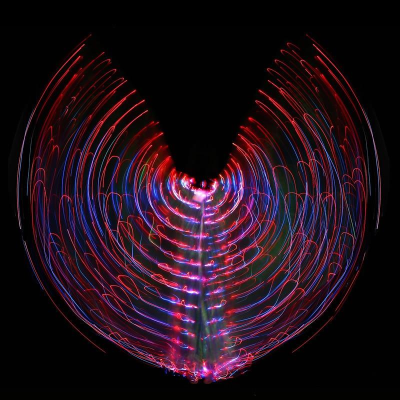 Grande variado color danza del vientre luz LED ala para las mujeres ...