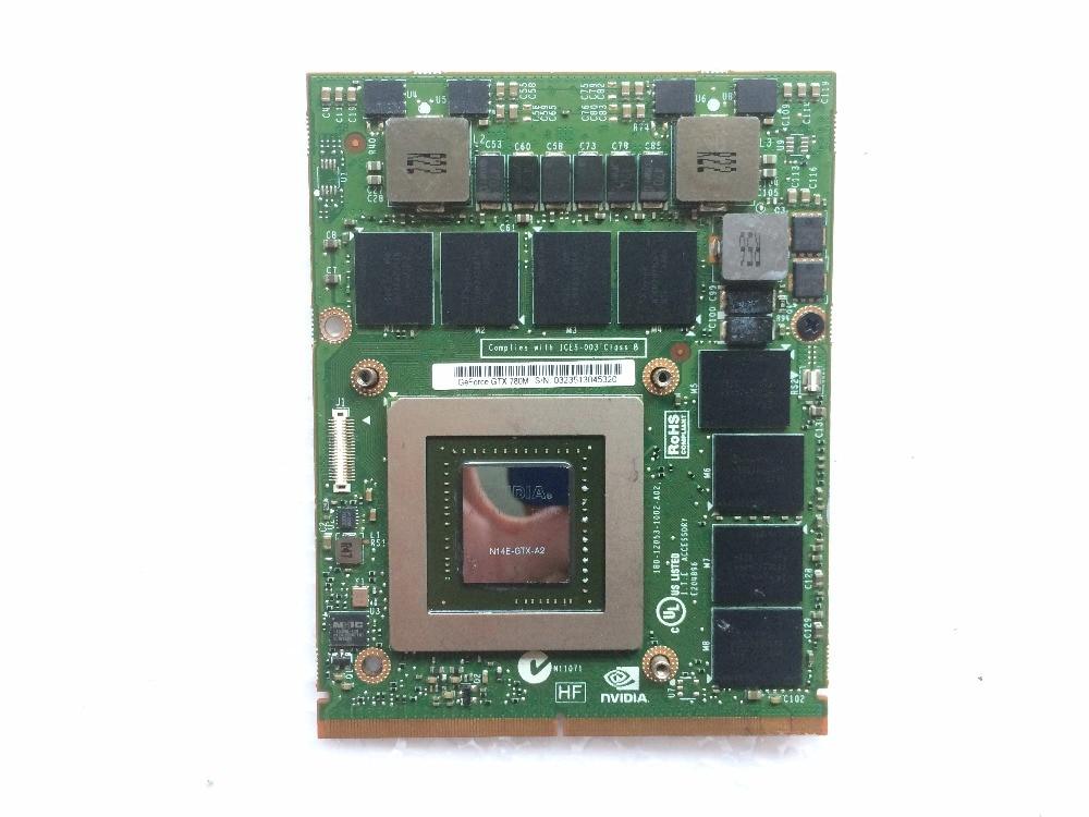 GTX 780 m 4 gb GDDR5 VGA Carte N14E-GTX-A2 FJHX2 0FJHX2 pour Alienware 15 R1/17 R2
