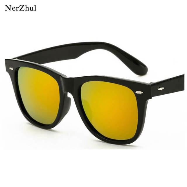 7e7d7ab53 Moda Unissex 6 Cores Praça Mulheres Homem Óculos de Sol Pequeno Prego  Vermelho Espelho Óculos de