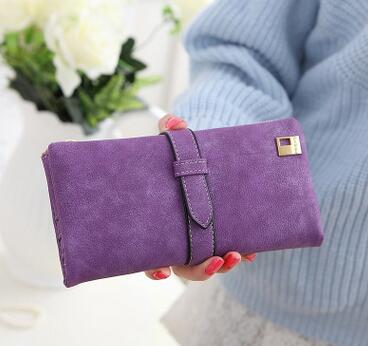 HOT Women Wallets Long Matte Leather Hasp Clutch Wallets Female Coin Party ..