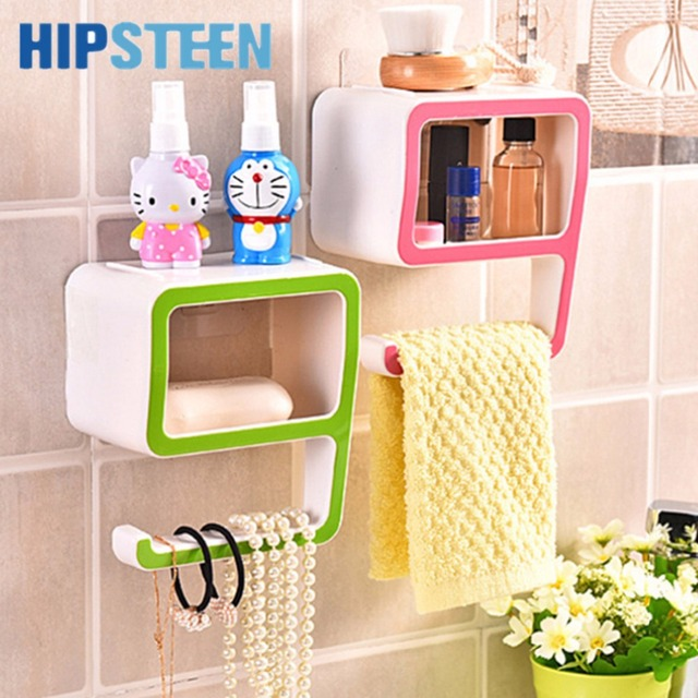 Hips Creative Number Nine Shaped Plastic Bathroom Storage Holders Soap Dish Toiletries Holder Commodity Shelf