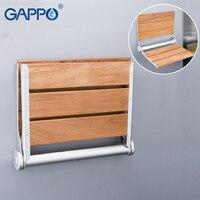 GAPPO настенный Сиденье для душа настенный стул для ванной откидное сиденье ванны дерева и алюминиевый сплав bench душевые стулья