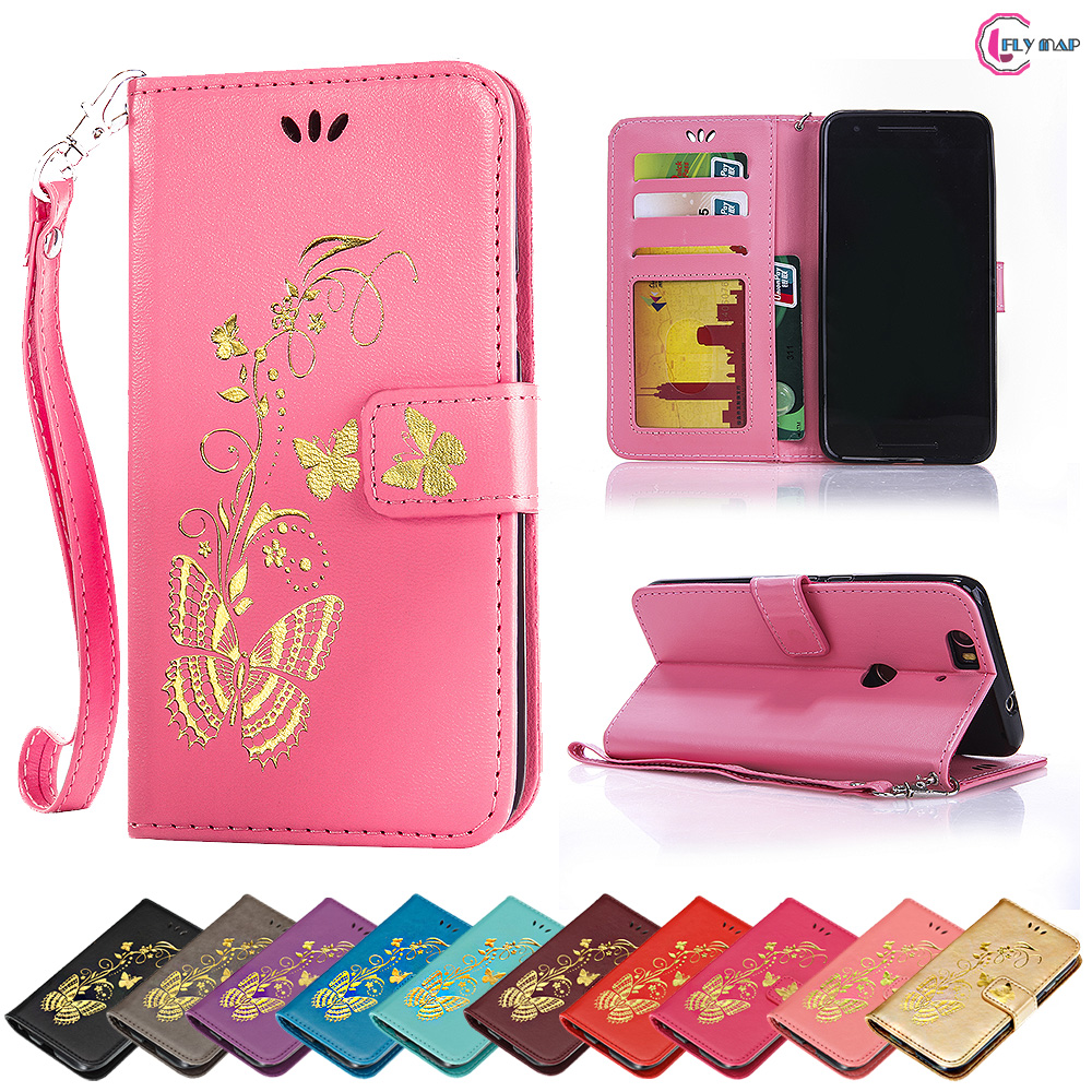 brand new 33af0 57daf Flip Case For Google Huawei NEXUS 6P H1511 H1512 Butterfly Case Wallet  Phone Leather Cover For Huawei NEXUS 6 P NEXUS6P Bag