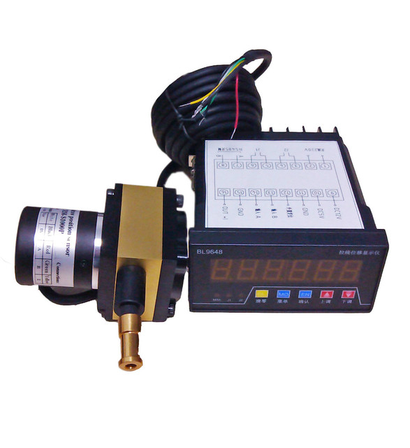 Electrical Wire Gauge Measuring Tool Digital Manifold: 1m Stroke Draw Wire Position Linear Sensor With 6 Digit