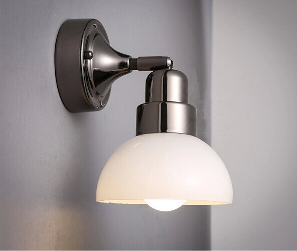 Modern minimalist  iron glass LED wall lamps for living room bedroom aisle,the shade is rotating,Bulb Included
