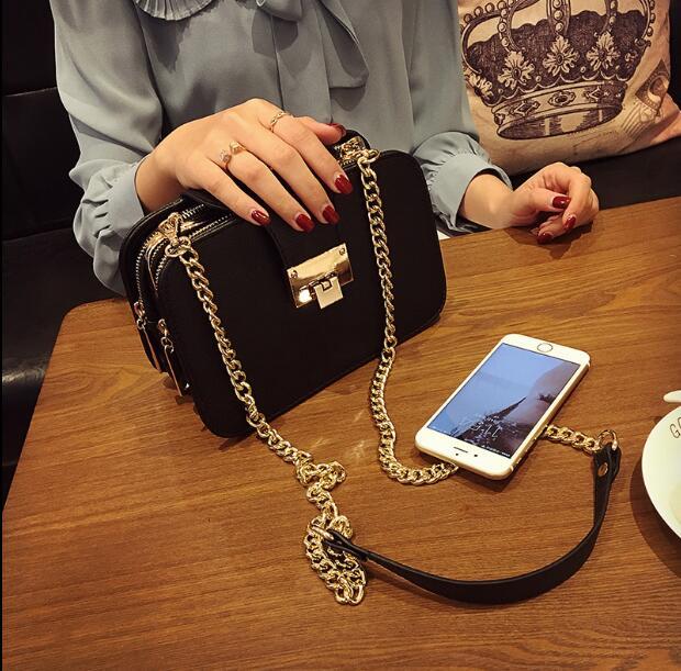 Del Della Ragazza Di Borsa Xzhkju9 Donne Per Nero Piccole Messaggero Colore Spalla Telefono Strati Catena Il Modo Femminile Casuale A Tre Sacchetto ZxSPpq