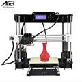 Anet a8 high-precision precisão de impressora 3d reprap prusa i3 com 2 Kit rolos DIY Fácil Montar Filamento 8 GB cartão SD tela LCD