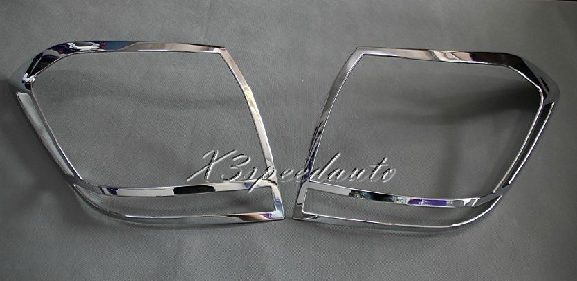 Chromed ABS Plastic 2PCS Tail Rear Light Cover Trim For Toyota Highlander 2011 2012 2013Chromed ABS Plastic 2PCS Tail Rear Light Cover Trim For Toyota Highlander 2011 2012 2013