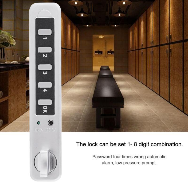 8 Digit Code Cabinet Lock Combination Cam Password Electronic Cabinet Lock Zinc Alloy Smart Security Code Lock cerradura armario