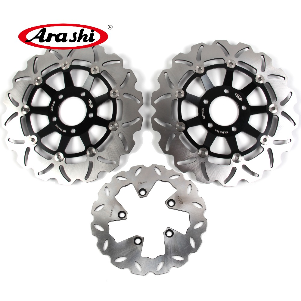 Arashi 1 Set CNC Front & Rear Brake Disc Brake Rotors For Suzuki Bandit 1200 GSF1200 1996-2005 1997 1998 1999 2000 2001 2002 arashi cnc rear brake disc brake rotors for honda cb250 cb400 cb500 cb500s 1991 2000 2001 2002 2003 2004 2005 2006