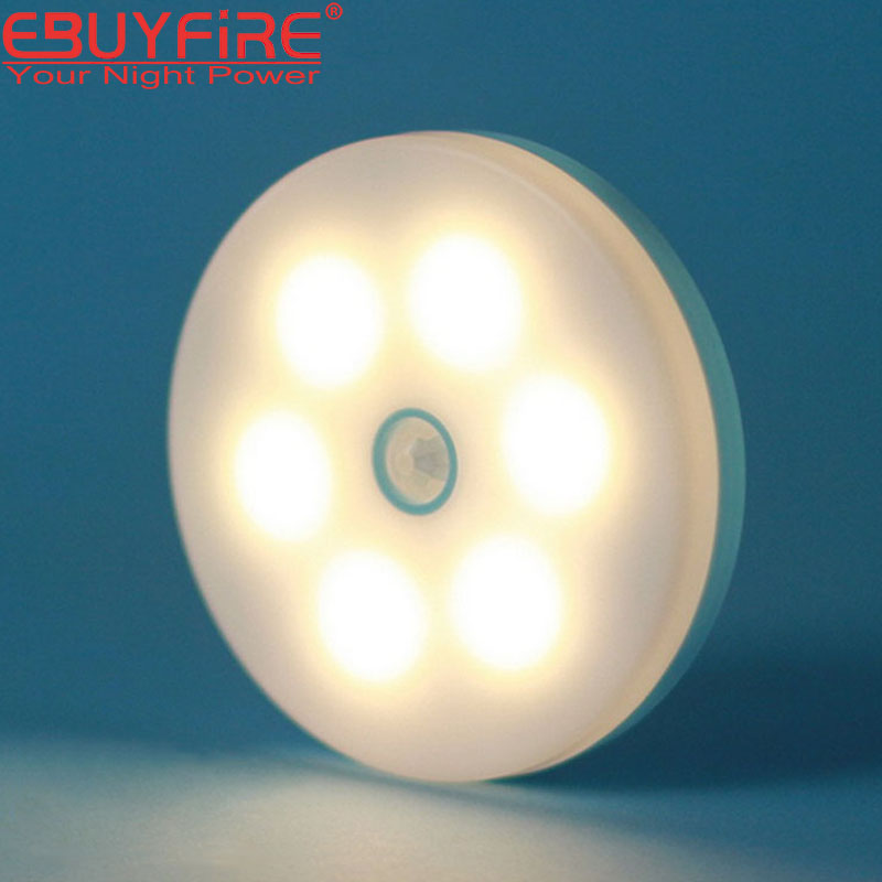 Intelligent human body induction lamp LED warm yellow night light Waterproof flashlight Decoration Lights