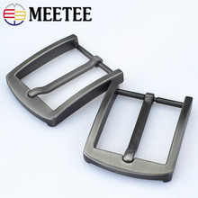Meetee 5Pcs Fashion Metal Buckle for Men Pin Buckle for Belt 38-39mm Men Jeans Accessories DIY Leather Craft KY147 1x 40mm metal belt buckle center bar single pin buckle men s fashion belt buckle fit 37 39mm belt leather craft accessories