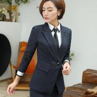 Blazer Feminino 2017 Long Sleeve Women Blazers Jackets Office Lady Style Double Breasted Suit Ladies Female