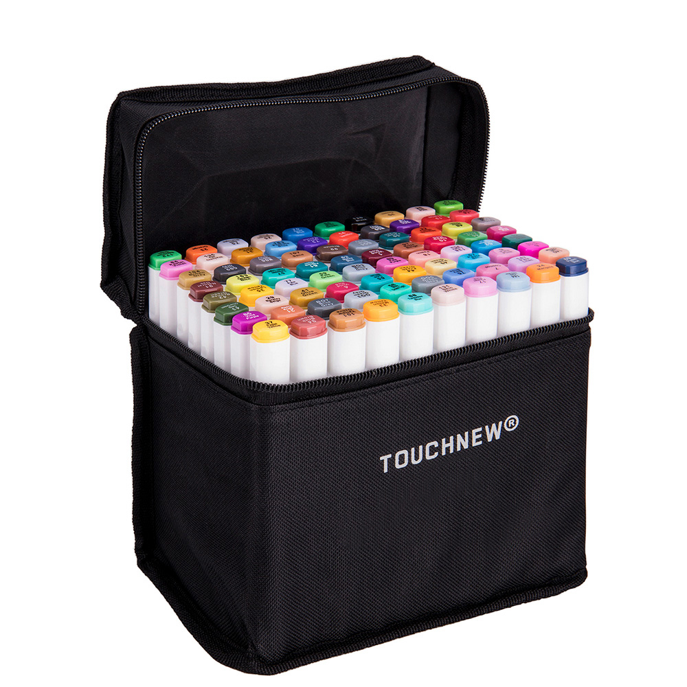 TOUCHNEW 1PCS Available Choose Color Dual Head Art Sketch Marker For Drawing Design Markers School Office Supplies