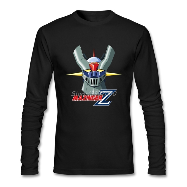 Mazinger Z T Shirt Cotton Long Sleeve Custom Brand-clothing Fashion Team Tee  Shirts Homme 09b847f2ea2a