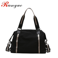 RANYUE Women Fashion Travel Bag Large Capacity Hand Luggage Travel Bags Waterproof Nylon Casual Women's Traveling Shoulder Bags