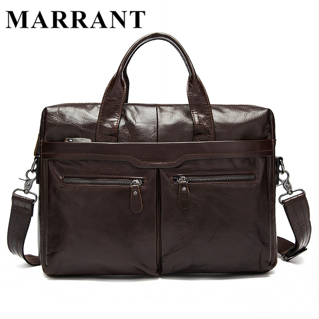 MARRANT Genuine Leather Men bag Cow Leather Briefcase Men's Messenger Bags Men's Travel Bags Man Crossbody Shoulder Handbag 9005