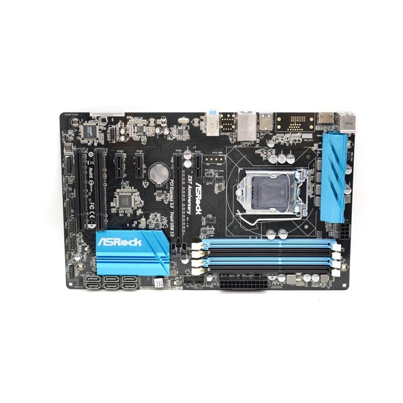 For Asrock Z97 Anniversary Motherboard Lga1150 Intel Z97 Atx Hdmi Sata3 Usb 3 0 Original Used Motherboard June 2021