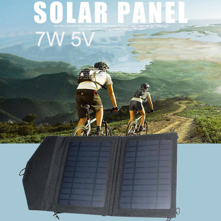 Outdoor cycling solar panel