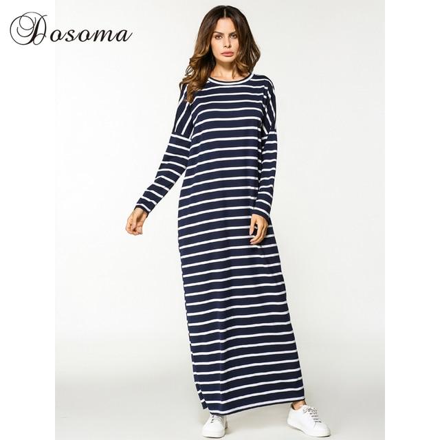 Casual Maxi Robe Bande Coton Moyen-Orient Abaya Chemise Lâche Style  Musulman Robe Marocaine Burka d954d08583a