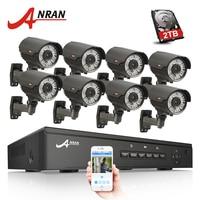 ANRAN 8CH 48V POE NVR CCTV System Onvif P2P 1080P HD Varifocal 2 8mm 12mm IP