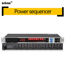 Professional stage 8/10 way power sequencer socket order management controller air switch SR-820