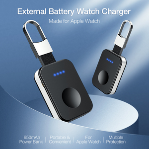 Image 4 - RAXFLY keychain Wireless Charger For Apple i Watch Series 2 3 4 5 950mAH LED Power Bank Dock Outdoor portable Wireless Charger 5