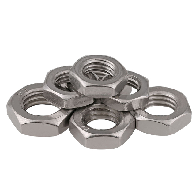 US $10 5  Fine Pitch 1 0 1 25 1 5 CCW Left hand thread Nut M8 M10 M12 M14  M16 M18 M20 M22 M24 Stainless steel hex counter clockwise DIN934-in Nuts