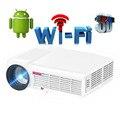 5500 Люмен Android 4.4 1080 P Полное HD Smart Wifi LED LCD 3D Видео USB Проектор портативный Мультимедийный Домашний кинотеатр проектор