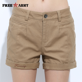 Embroidery Shorts Women Summer Fashion Casual Cotton Shorts 4 Solid Colors Short Pants Brand Clothing Sexy Hot Woman Shorts 2