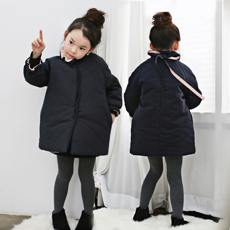 Brand 2018 New Baby Girls Winter Coat Kids Padded Jackets Children Thicken Coat Toddler Bow Jackets Warm Clothes,2-10Y,#2380