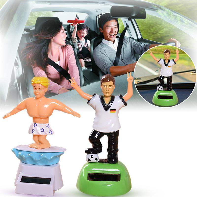 Car Ornament Solar Powered Athletes Dancing Shaking Head Cartoon Animal Doll Aut