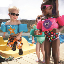 Child Swimming Ring Float Cartoon Arm Sleeves Jackets Swimsuit Life Vest Armlets Swim Trainer Inflatable Pool Toys Boia Piscina 6pcs eva foam swim discs arm bands floating sleeves child swimming inflatable pool float board exercises circles ring accessorie