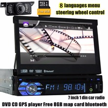 1 din Car radio GPS Navigator 7″1din car dvd player gps navigator tape recorder autoradio cassette player for car radio steering