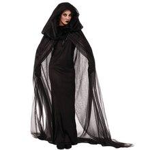 2016 Cosplay Women's Uniforms  Black Vampire  Halloween Mysterious concern Ghost Bridal Dress and hood Long skirt
