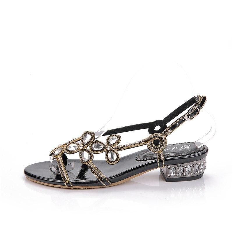 Casual Gran Negro De sparrow Calidad G Verano Nuevo Sandalias Tamaño 2019 Playa Plana Mujer Zapatos Alta ICXwxq7