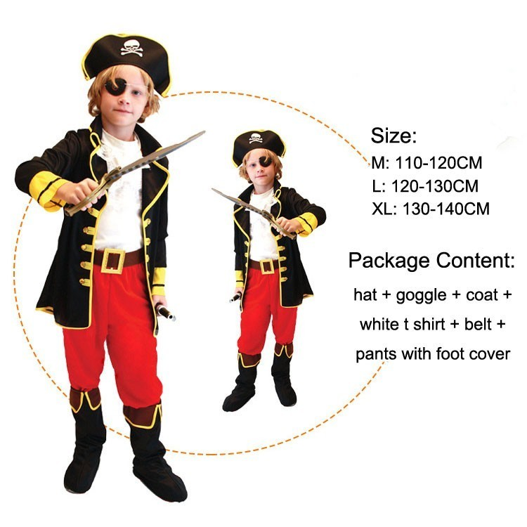 halloween child boy girl carnival children pirates of the caribbean costume kids pirate costumes for girls shirt deluxe cute