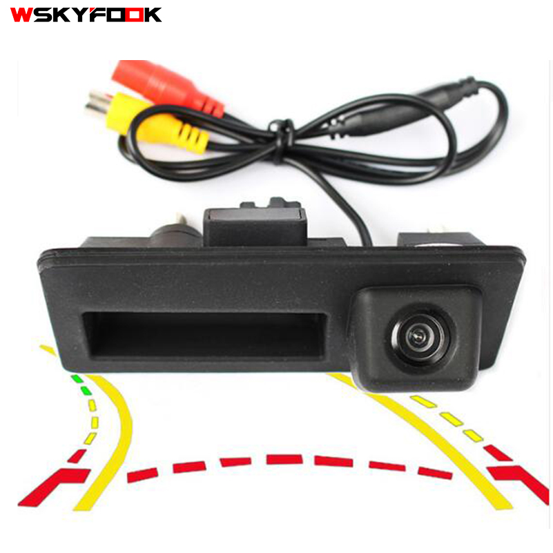 Intelligent Trajectory Tracks Car Trunk handle Rear View Camera For Audi/VW/Passat/Tiguan/Golf/Touran/Jetta/Touareg