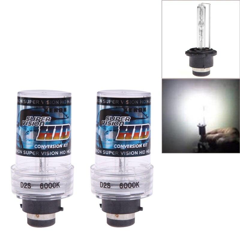 2Pcs 35W 6000K D2S/D2C Xenon Car Replacement HID White Headlight Light Bulbs Car Light Source