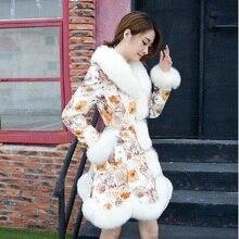 Vetement femme 2018 fashion fur coat new ladies womens coats winter Korean long  blue HOT