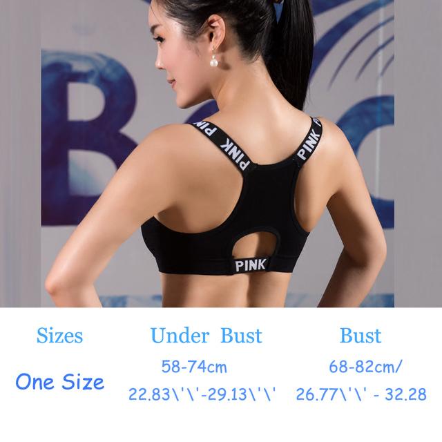 HIBUBBLE Women Sport Bra Top Black Padded Yoga Brassiere Fitness Sports Tank Top Female Sport Yoga Bra Push Up Sports Bra