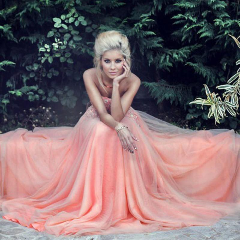 Vistoso Coral Peach Prom Dresses Composición - Ideas de Estilos de ...