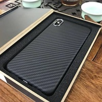 Top Quality Super Sport Car Handmade Matte Carbon Fiber Cover For iPhoneX Xs Carbon Fiber Cases For iPhone Xs Max
