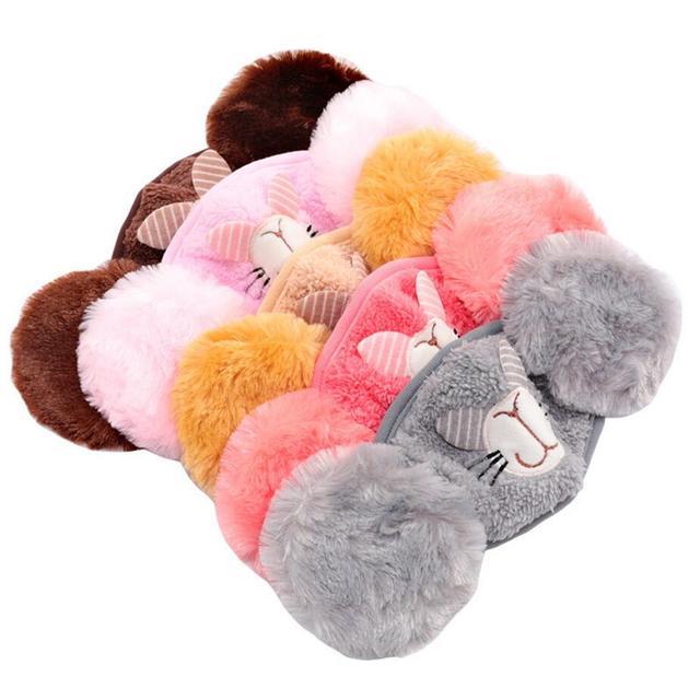 Cute rabbit Ear protective kids mouth mask Windproof earmuff anti dust winter masks Children Anti Haze Flu cotton Face masks