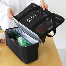 Fashion Black Outdoor Travel Picnic Storage Bag Hand Shoulder Shoulder Insulation Picnic Bag Double Insulation Cold Pack Ice fasite pt n087 multifunction electrical repairing tool storage hand shoulder bag black red