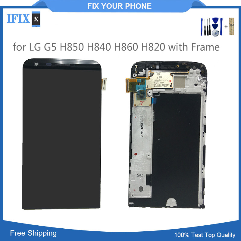 LCD Display for LG G5 H850 H840 H860 H820 with Touch Screen Digitizer Assembly with Frame Replacement Parts-in Mobile Phone LCD Screens from Cellphones & Telecommunications
