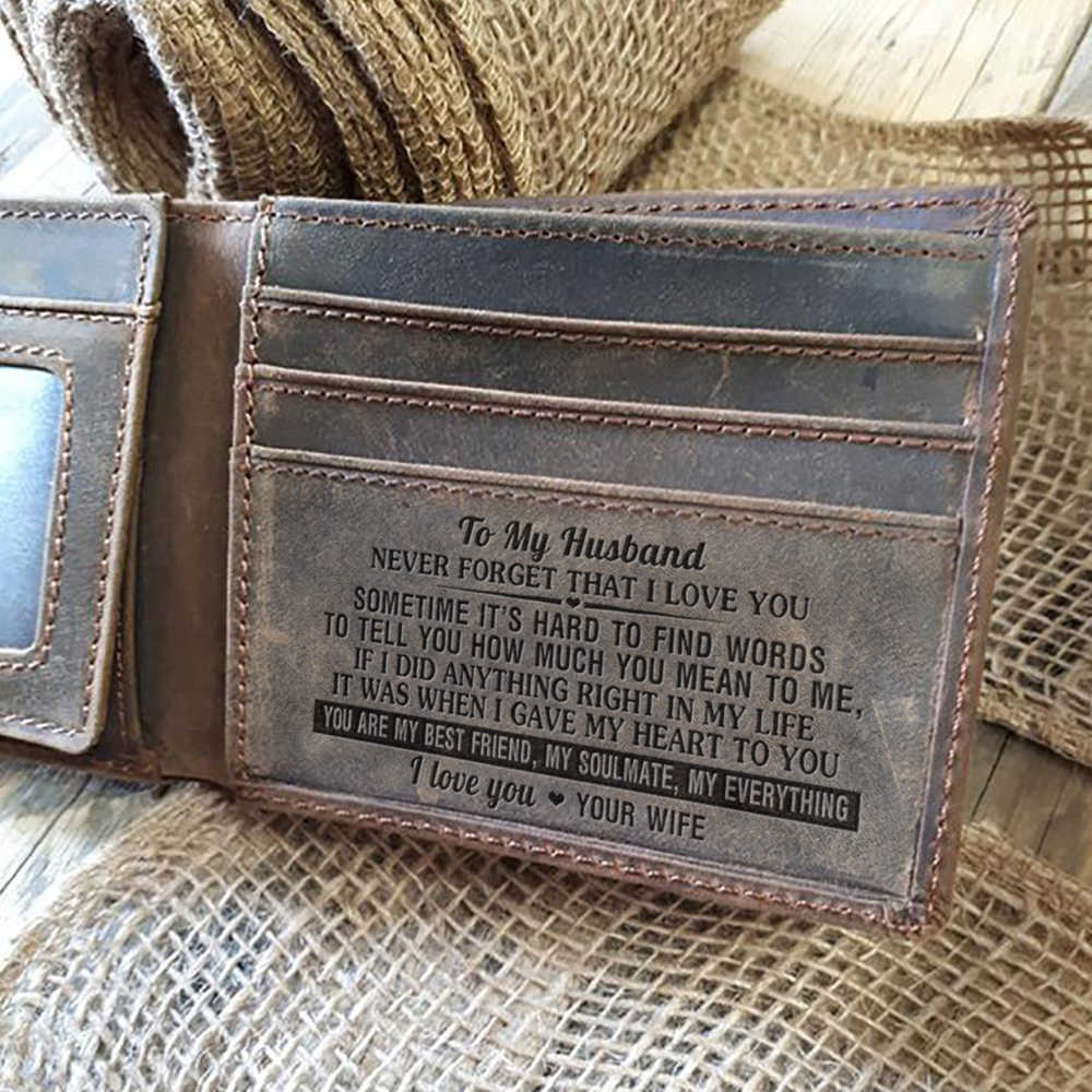 a5bcc5e9579f4 Mens Wallet - Grey Cow Leather Wallet, The Perfect Mens Gift, To My Mens  Gift, Gifts for Husband, Son Gifts Personal Engraved