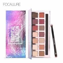 Focalure 2017 Hot Products szemhéjárnyaló paletta készlet shimmer matt színes szemmasszázs Glitter sugárzó 14 szín hosszú távú Natu