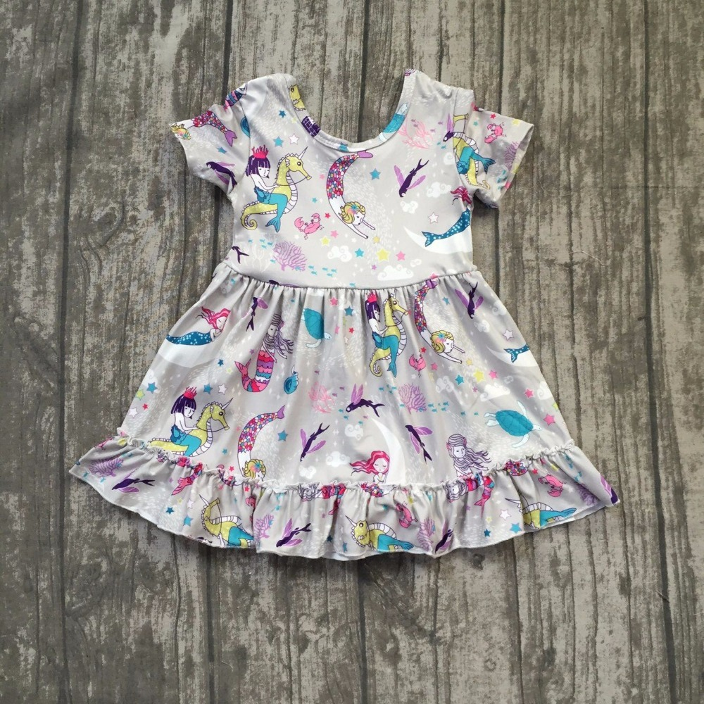 baby girls summer dress clothing girls mermaid dress children girls grey dress milk silk dress kids boutique summer dress new design baby girls summer dress clothing girls floral dress children soft minl silk dress girls green floral boutique dress